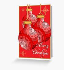 Christmas Baubles - Australian Aboriginal Art Greeting Card