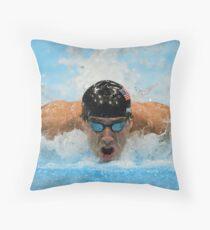Michael Phelps Throw Pillow