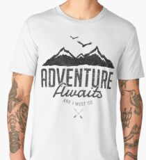 ADVENTURE AWAITS Men's Premium T-Shirt