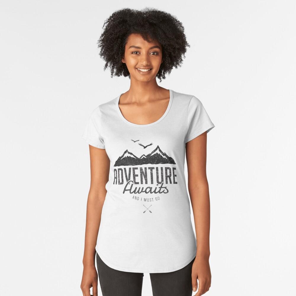 ADVENTURE AWAITS Premium Scoop T-Shirt