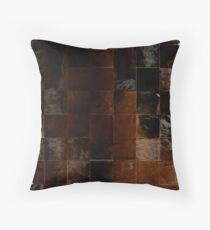 Cowhide Patchwork   Texture  Throw Pillow