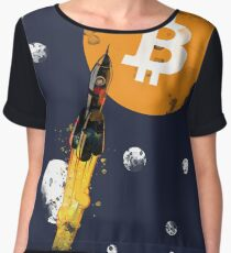 Up Up To The Moon : Bitcoin Edition Apparel. Women's Chiffon Top