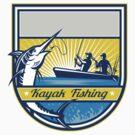 Kayak Fishing Blue Marlin Badge by patrimonio