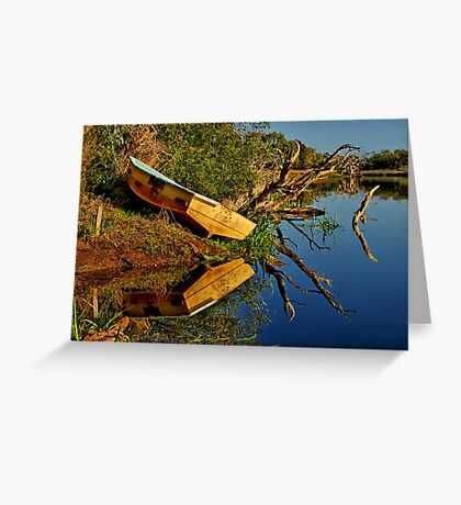 """""""Creekside Reflections"""" Greeting Card"""