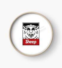 sheep red Clock