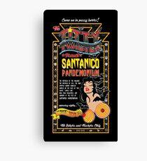 From Dusk Till Dawn - Black Aztec Extended Flyer Canvas Print