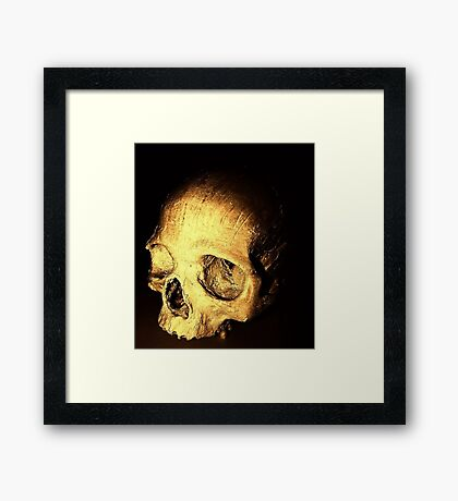 """Mummy"" dearest (skull) Framed Print"