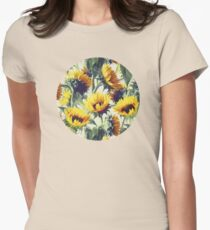 Sunflowers Forever Women's Fitted T-Shirt