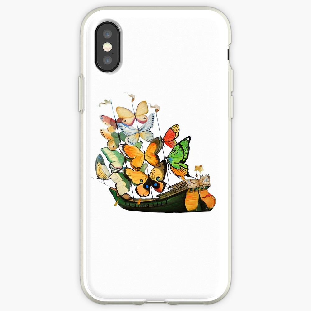 Salvador Dali Ship with Butterfly Sails iPhone Case & Cover
