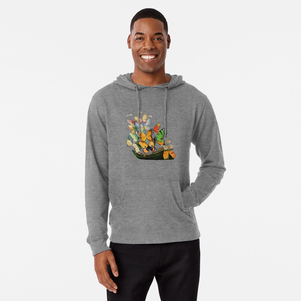 Salvador Dali Ship with Butterfly Sails Lightweight Hoodie
