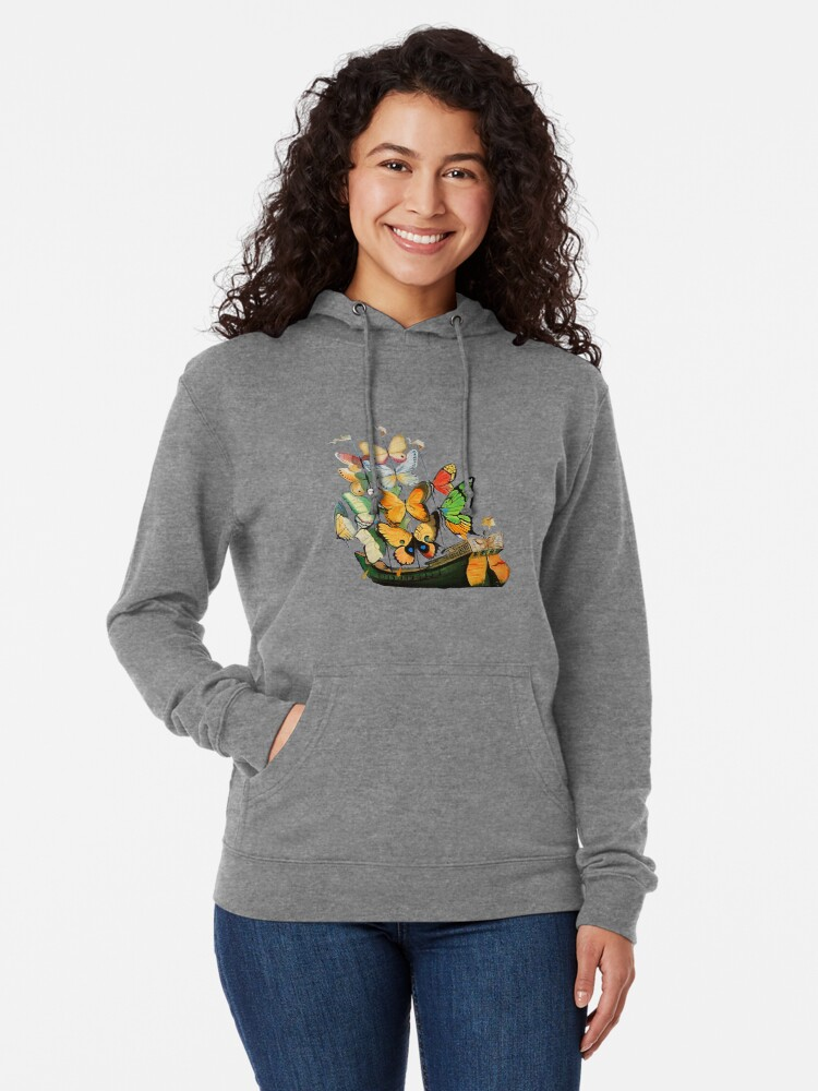 Alternate view of Salvador Dali Ship with Butterfly Sails Lightweight Hoodie