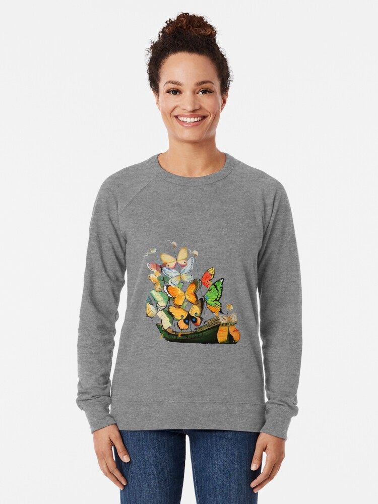 Alternate view of Salvador Dali Ship with Butterfly Sails Lightweight Sweatshirt