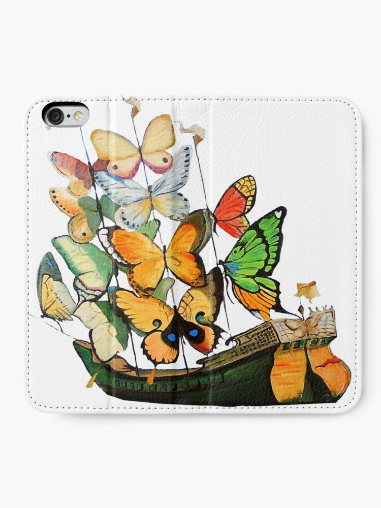 Alternate view of Salvador Dali Ship with Butterfly Sails iPhone Wallet