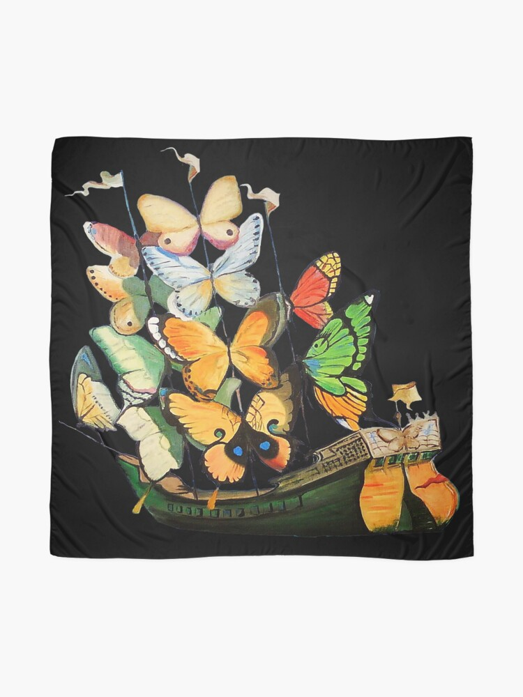 Alternate view of Salvador Dali Ship with Butterfly Sails Scarf