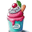 Cherry ice cream cup by Julia Henze