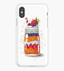 Strawberry and Blueberry shortcake in a jar iPhone Case