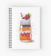 Strawberry and Blueberry shortcake in a jar Spiral Notebook