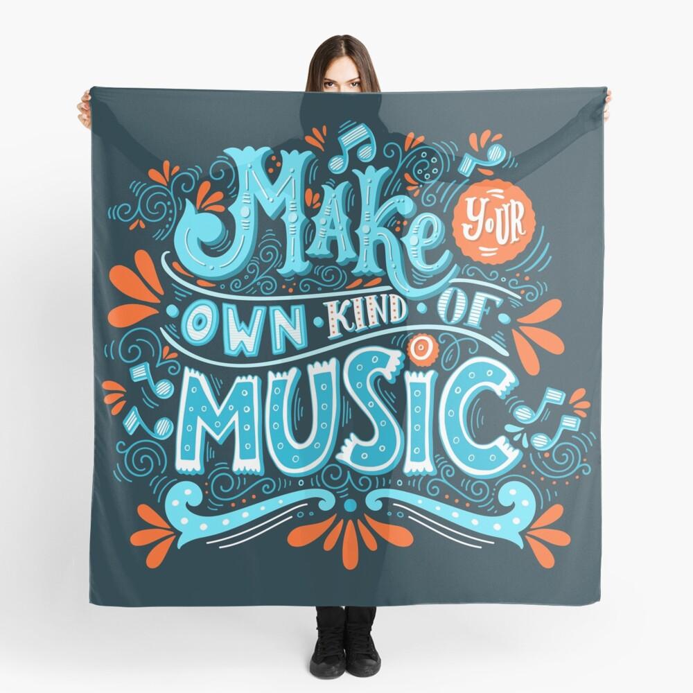 Mach deine eigene Art von Musik Tuch