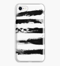 Abstract Brushstrokes   Minimalist   Black and White iPhone Case/Skin