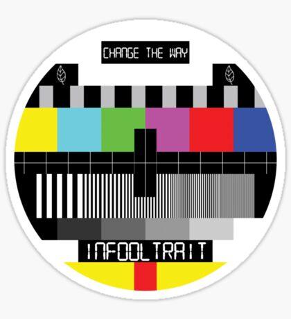 TV Test Card Sticker