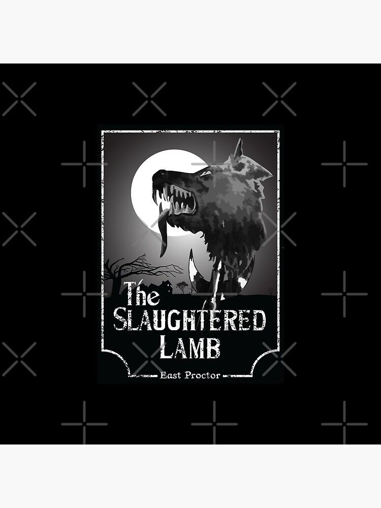 American Werewolf In London - The Slaughtered Lamb B&W by Purakushi