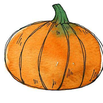 Pumpkin watercolor by KaylaPhan