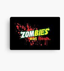 Zombies Eat Flesh Variant Canvas Print