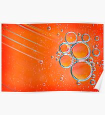 Orange Bubbles Oil and Water Poster
