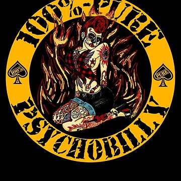 Psychobilly Girl - yellow by SquareDog