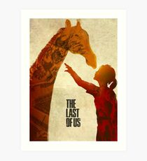 The Last of Us - Ellie and the Giraffe Art Print