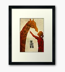 The Last of Us - Ellie and the Giraffe Framed Print