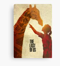 The Last of Us - Ellie and the Giraffe Metal Print