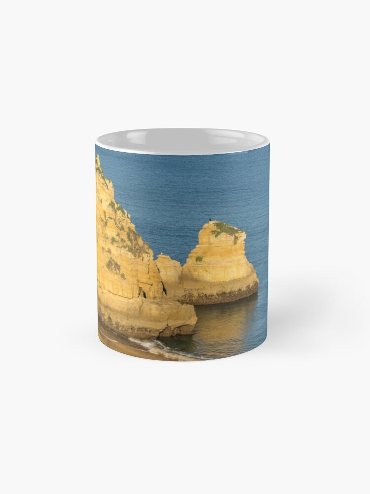 Alternate view of Gold and Blue - Long Shadows on Dona Ana Beach in Lagos Algarve Mug