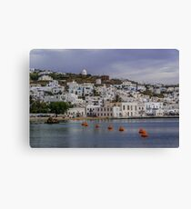 Port of Mykonos Canvas Print