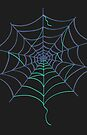 Colorful Spider Web Halloween by Andreea Butiu