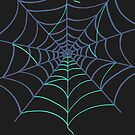 Colorful Spider Web Halloween by Andreea Butiu