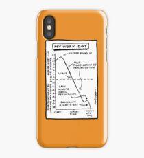 'My Work Day' graph iPhone Case/Skin
