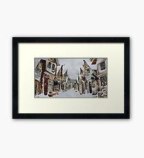 Hogsmeade in the Snow Framed Print