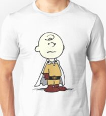 Charlie Brown Become One Punch Man Parody T-Shirt
