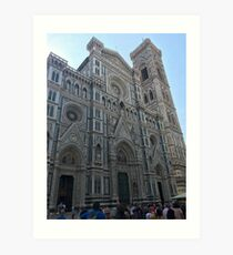 Italy cathedral architecture europe country travel adventure ocean sea island boat trees  Art Print