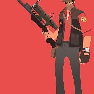 Team Fortress 2 - Sniper by yoshisaredragon