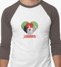 Be my Valentine Ghost! Men's Baseball ¾ T-Shirt