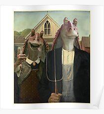 Jar Jar Binks - American Binks : Inspired by Star Wars Poster