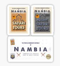 Vintage Nambian Travel Stickers - Set 3 Sticker