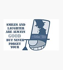 Never forget you poker face Photographic Print