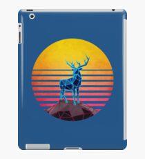 Geometric Neon Retro 80's Polygon Deer iPad Case/Skin