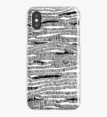 Train to Mystic #Lines #B+W #Sketch #Drawing #Camouflage #Abstract #Stripes #Contours #Wood #Water #Pattern #Woven #knitted #Map iPhone Case/Skin