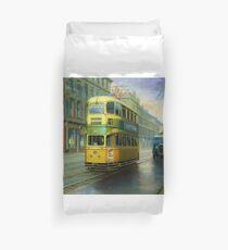 Glasgow tram. Duvet Cover