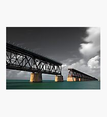 Old Bahia Honda Bridge Photographic Print