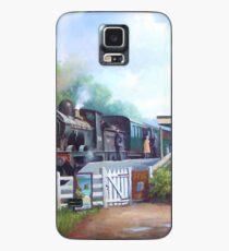 Early railway painting. Case/Skin for Samsung Galaxy